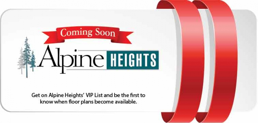 <h5>Home Builders - Alpine Heights Coming Soon</h5>