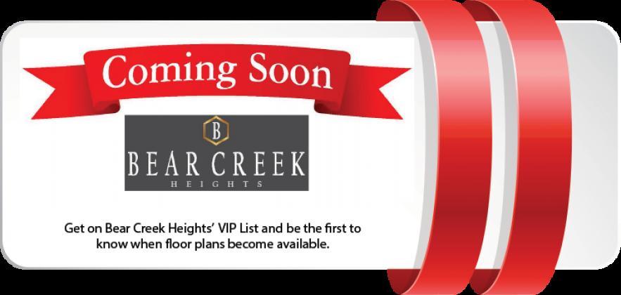 <h5>Home Builders - Coming Soon Bear Creek</h5>