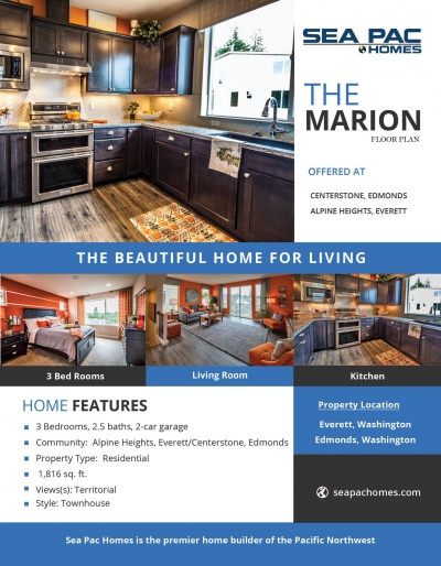 <h5>Home Builders -  Home Features of Marion</h5>